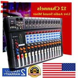 12 Channel Professional Live Studio Audio Mixer CT-120S USB