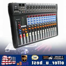 12 Channels Audio Mixer Console Control Station USB Mixing B