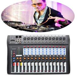 12 Channels USB Audio Mixer bluetooth DJ Sound Mixing Consol