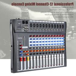 ammoon 120S-USB 12 Channels Mic Line Audio Mixer Mixing Cons