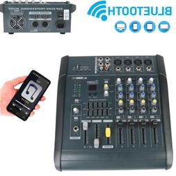 4 Channel Audio Mixer Mixing Console Power Amplifier Functio