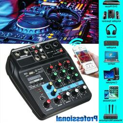 4 Channel Audio Mixer USB Mixing Console w/ Wireless for kar