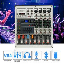 4-Channel Audio Mixer W/USB Interface Bluetooth Mixing Conso