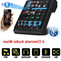 4 Channel Digital USB Bluetooth Mixer DJ MP3 Audio Sound Mix