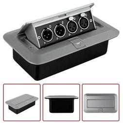 4-Channel Dual XLR Male & Female Table Top Pop Up Audio Box