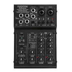 ammoon 4-Channel Mixing Console Digital Audio Mixer 2-band E
