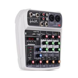 Muslady AI-4 4 Channel Bluetooth Digital Audio Mixer Sound D