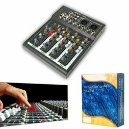 4 Channel USB Professional Live Studio Audio Mixer Mixing Co