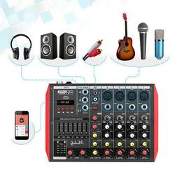 6 channel professional bt usb audio mixer
