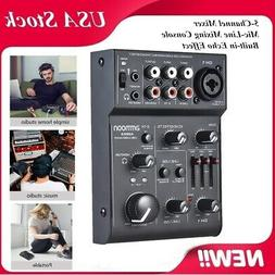 6-Channel Digtal Mic Line Audio Sound Mixer Mixing Console 2
