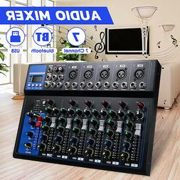 7 Channel USB MP3 Stereo Sound Mixer Audio Stereo bluetooth