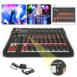 8/12 Channels Bluetooth Live Studio Audio Mixer Mixing Conso