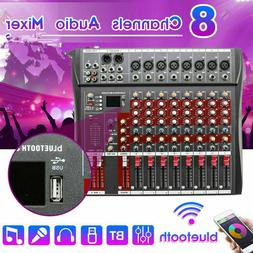 8 Channel Audio Mixer Bluetooth Live Studio Pro Stage Consol