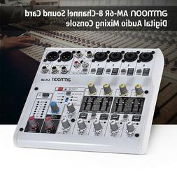 ammoon 8 Channel Digital Audio Mixer Mixing Console 48V Phan