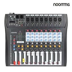 8 Channel Digtal Mic Line Audio Mixing Mixer Console 48V Pha
