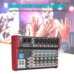 Muslady Audio Mixer Mixing Console 8Channel Karaoke 48V Ampl