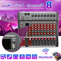 Portable 8 Channel Audio Mixer Bluetooth Live Studio Stage M