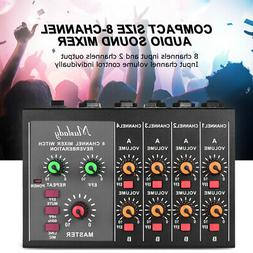 8-Channel Stereo Audio Sound Mixer&60Hz Frequency Cutting 2