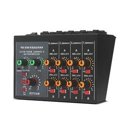 8-Channel Stereo Sound Mixing Console Reverb Effect Audio Mi
