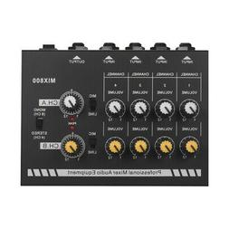 8-Channels Audio Sound Line Mixer with Power Adapter High Qu