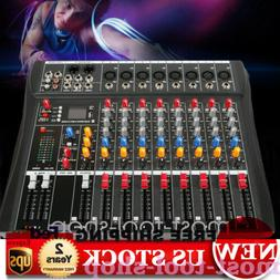 ABS 8 Channel Professional Live Studio Audio Mixer bluetooth