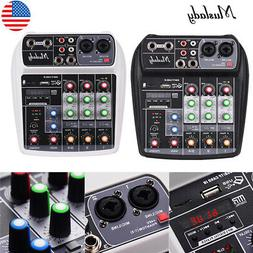 Muslady AI-4 Compact Sound Card Mixing Console Digital Audio