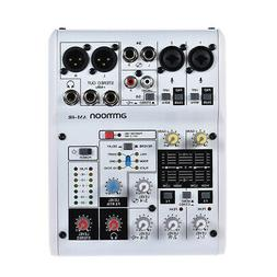 ammoon AM-4R 6-Channel Sound Card Digital Audio Mixer Mixing