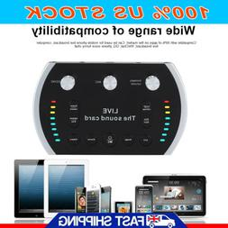 Audio Live Sound Card Device Microphone Headset Mixer Phone