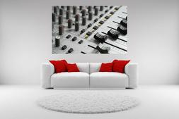 Audio Mixer Canvas Giclee Print Picture Unframed Home Decor
