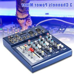 Audio Mixer Console Professional Mixing Amplifier Sound 3Cha