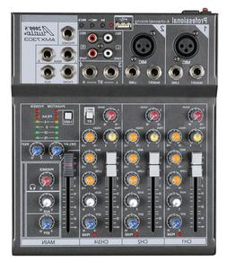 Audio2000s AMX7303 4-Ch.Audio Mixer with USB and DSP Process
