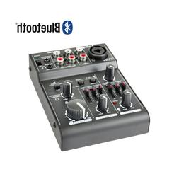 Audiopipe Bluetooth 3 Channel Mic-Line Mixer-USB Audio Inter