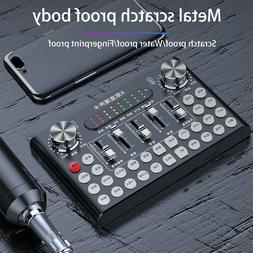 Bluetooth Live Sound USB Interface Audio Studio Mixer with D