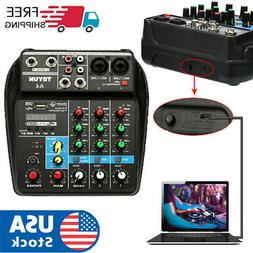 bluetooth Sound Mixing Console Record 4 Channels Audio Mixer