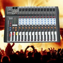CT-120S bluetooth 12 Channel Phantom Mixing  Live Audio Mixe