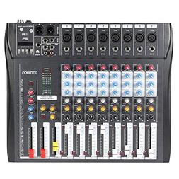 CT80S 8 Channel Live Studio Audio Mixer Console with 48V Pha
