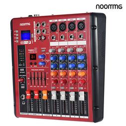 Digital 4CH Mic Line Audio Mixer Mixing Console for Recordin