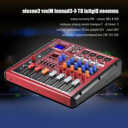 Digital 4-Channel Mic Line Audio Mixer Mixing Console 2-band