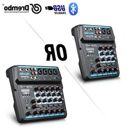 Drembo M-4/6 Protable Mini Mixer Audio DJ Console with Sound