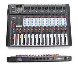 ELM CT-120S 12 Channel Studio Audio Mixer Board Mixing Conso
