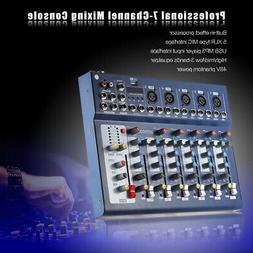 F7-USB 7 Channels Audio Mixer Sound Mixing Console Record 8V