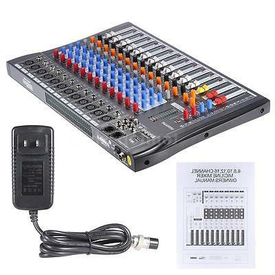Professional 12 Channel Mic Console