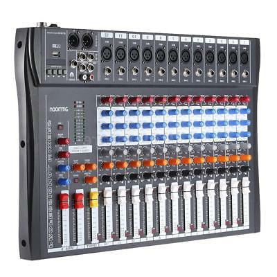 12 channel digtal mic line audio mixer