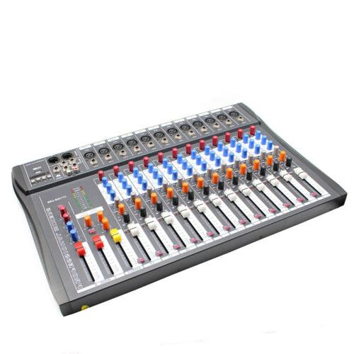 12 Channel Studio USB Mixing Console