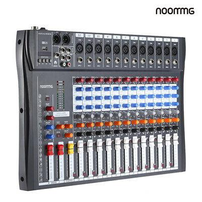 Professional 12 Channels Live Studio Audio Sound Console USB