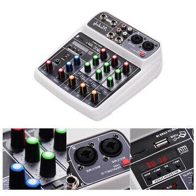 4 Channel Mini Digital Sound DJ Console