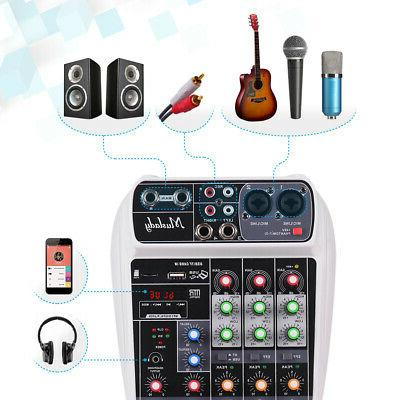 4 Channel Bluetooth Mini Digital Sound DJ Console USB