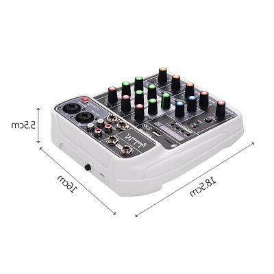 4 Channel Bluetooth Mini Audio Sound Console