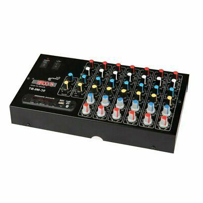 6 channel audio mixer usb mixing console