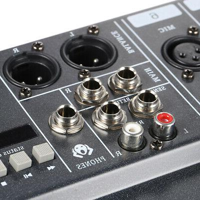 Audio Mixer Channels Stereo Card XLR Input D4Y0